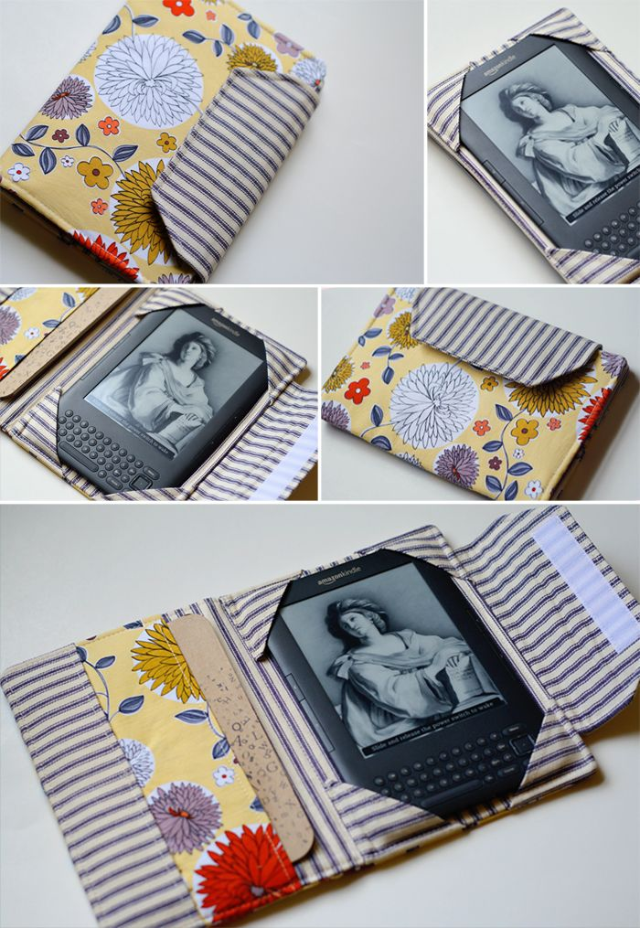 DIY Kindle Cover...this is only a sample of the cover she made.  She gives a link for the pattern by Birdiful Stitches.