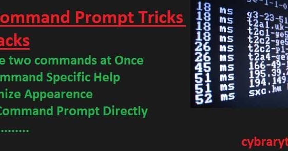 Command prompt is command line utility of windows operating systems to use pc through command line interface. You can get some best command prompt tricks in this post.