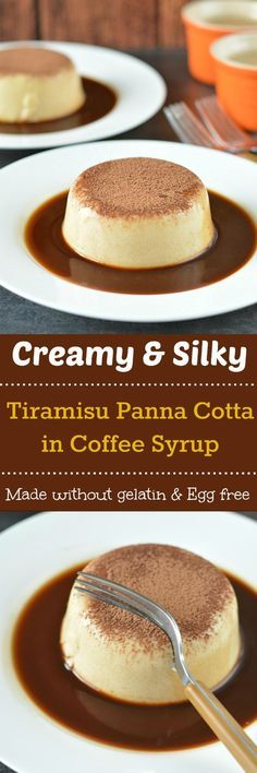 Absolutely delicious and creamy Tiramisu Panna Cotta is a fail proof dessert recipe. A crowd-pleasing dessert perfect for your next gathering or holiday party!