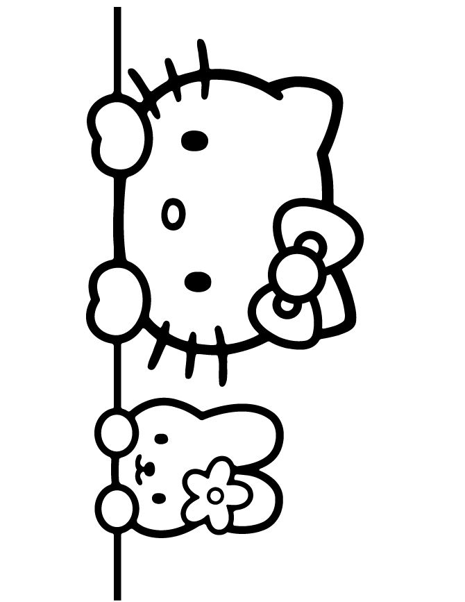 Hello Kitty Cheerleader Coloring Pages : Fancy header like this cute coloring book page check