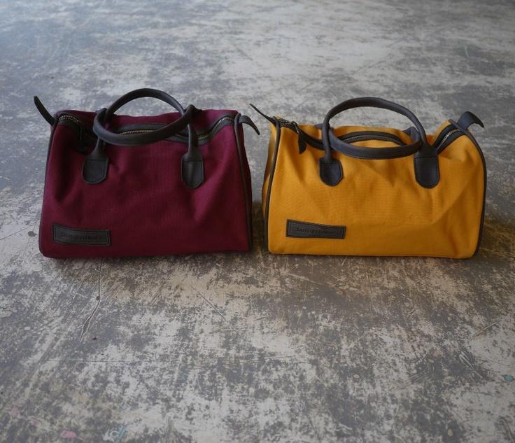 SandstormKenya Basics bag in Burgundy and Yellow Ochre