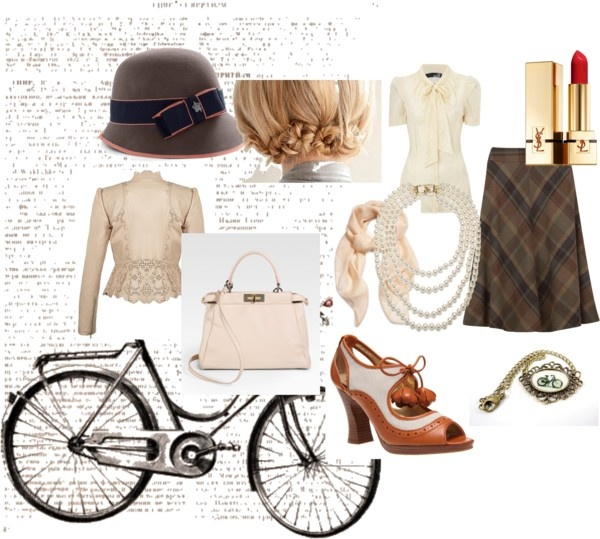 """Style Inspiration: """"The Tweed Ride"""" by thecovetedcloset on Polyvore"""