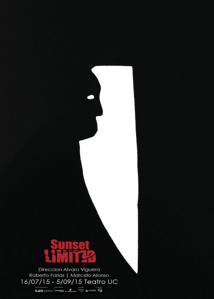 """Proyecto Afiche obra de teatro """"Sunset Limited"""". Alejandra Hormazábal."""