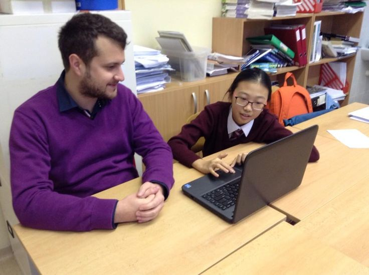Matej from Marketing helps students plan a corporate fund raising event