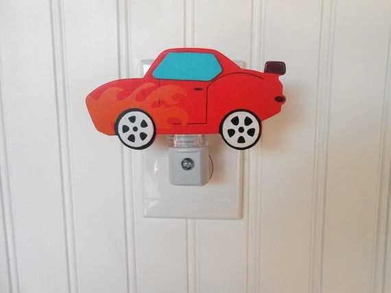 Car Night Light Race Car Decor Race Car Nursery by LaurenAnnaLei, $11.00