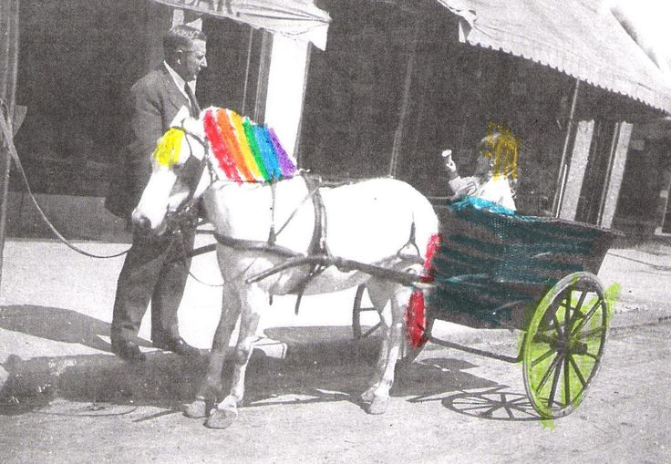 Loving the rainbow details!  Kids add colour to black and white images