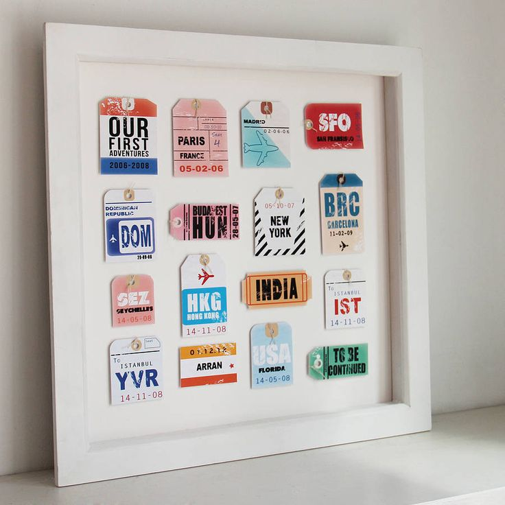 personalised travel tags by velvet ribbon   notonthehighstreet.com