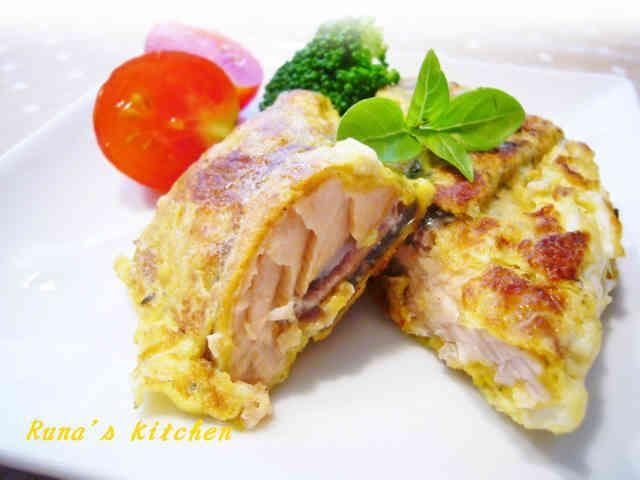 鮭のカレー風味バジルピカタの画像