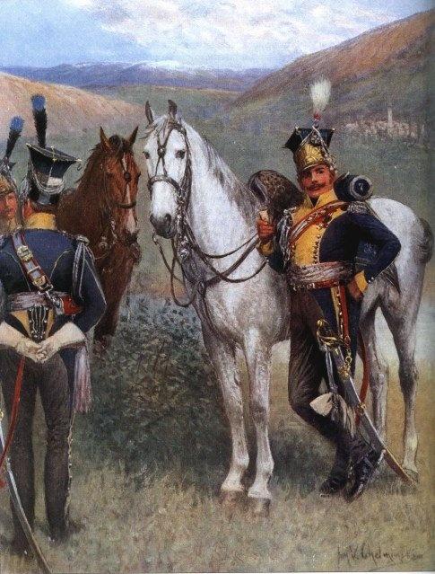 Lanciers De La Vistule - 7º Regiment (Espagne) - Jan Vładysław Chełmiński.