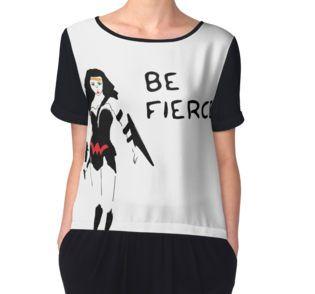 Women's Chiffon Top #befierce #DC #empowerment #wonderwoman #redbubble #independantartist