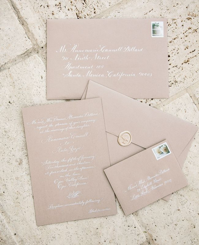 I just love the chosen color palette of the invitations! Simply classy!