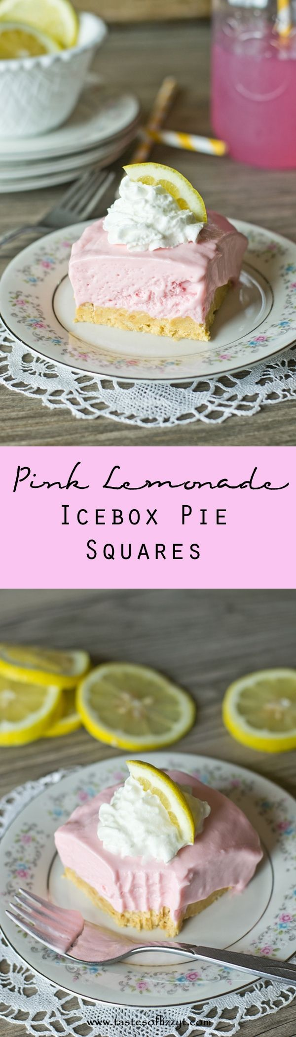 Pink Lemonade Icebox Pie Squares. This no-bake Pink Lemonade Icebox Pie Squares are cool, light and refreshing. Pinned over 1000 times!