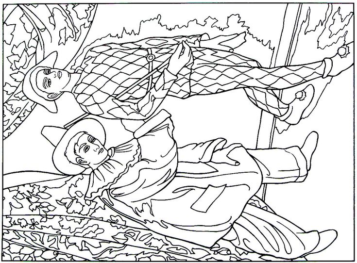 impressionist coloring pages - mardi gras impressionist painting by paul cezanne