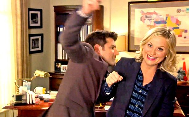 Ron Swanson gets his dance on in 'Parks and Rec' gag reel | EW.com - Can't watch this until after we finish season 6!