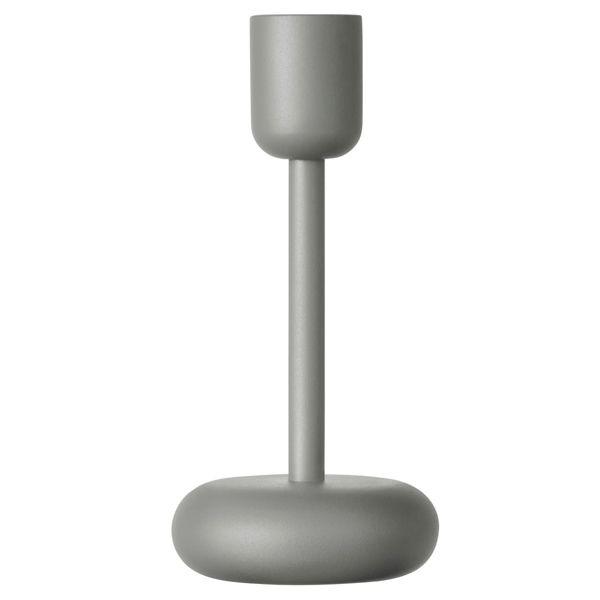 Nappula candleholder grey, 183mm, by Iittala. Design by Matti Klenell.