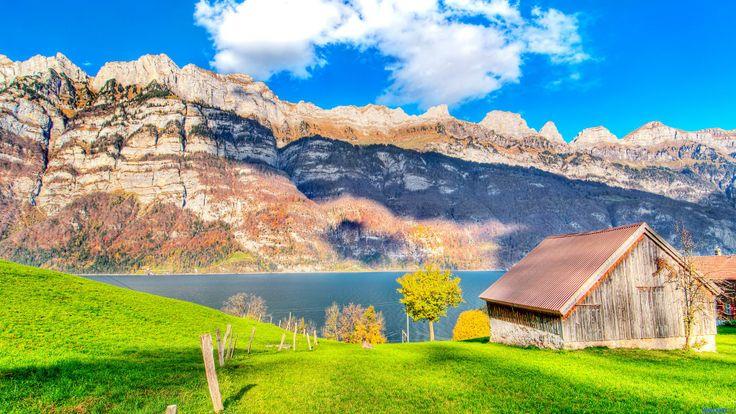Mountain Lake Early Summer wallpaper