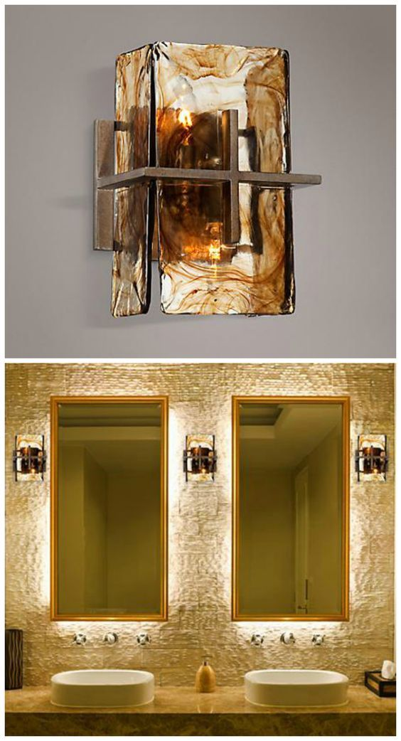 303 Best Bathroom Designs Images On Pinterest  Bathroom Lighting Fascinating Small Wall Sconces For Bathroom Review
