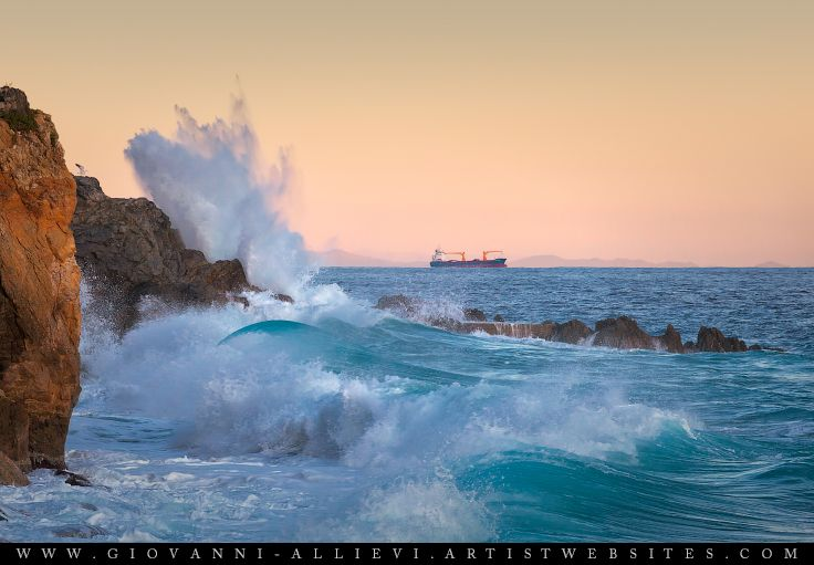 Rough sea 7 seascape with huge wave. Prints available at ...