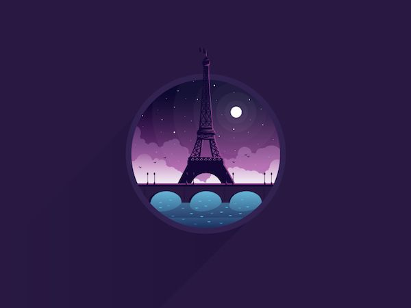 Delightful Flat Design Illustrations Of Places, Objects Made In A Circle - DesignTAXI.com
