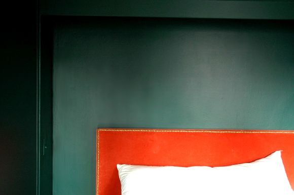 Little Green Notebook: Bavarian Forest Walls and Wall-Mounted Nightstands