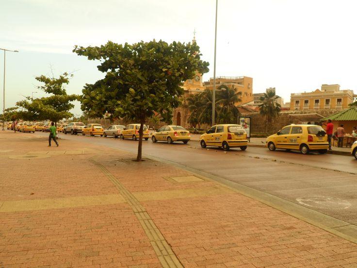 Los taxis en Cartagena.