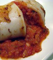 Cod-Stuffed Squid  Recipe - Calamar Relleno de Bacalao