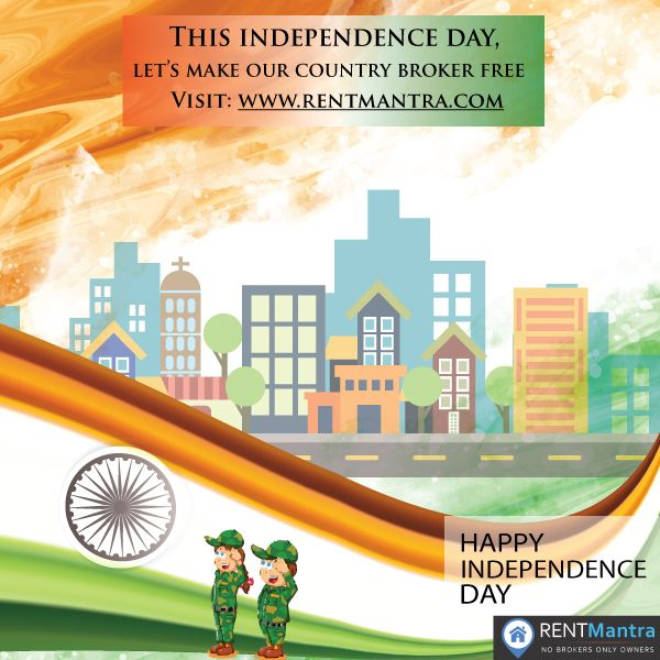 RentMantra Wishes Every Indian Happy Independence Day. On this Independence Day Let's Make Our Country Broker Free. Visit: www.rentmantra.com  ‪#‎happyindependenceday‬ ‪#‎independenceday2016‬ ‪#‎brokerfree‬ ‪#‎rentmantra‬