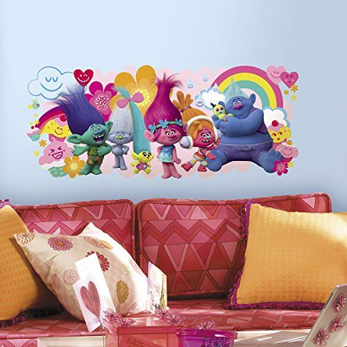 Trolls+Peel+and+Stick+Giant+Wall+Decals