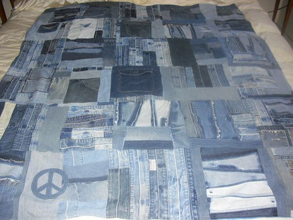 Recycled Blue Jean Quilt Recycled Denim Blue Jean