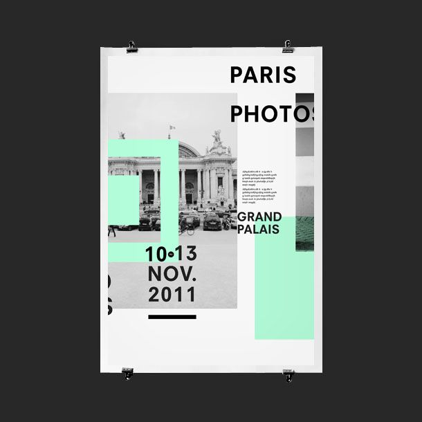 Paris Photos Event Poster Design   Creative Print Design