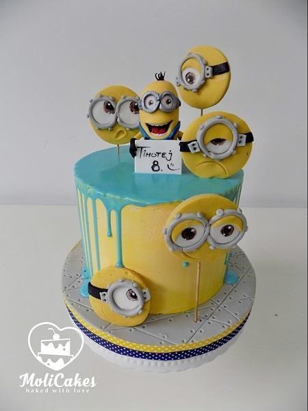 Minion drip cake  by MOLI Cakes