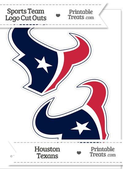 Medium Houston Texans Logo Cut Outs from PrintableTreats.com