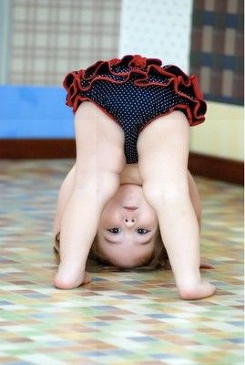 when i was in gymnastics, I was more upside down than right side up! :)