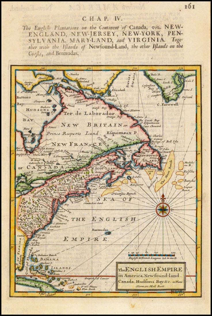 the english plantations on the continent of canada from the english empire in america newfound land to cuba