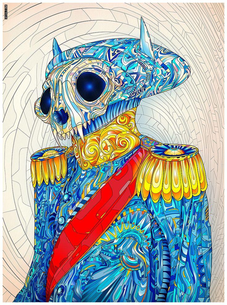 Matei Apostolescu color illustration