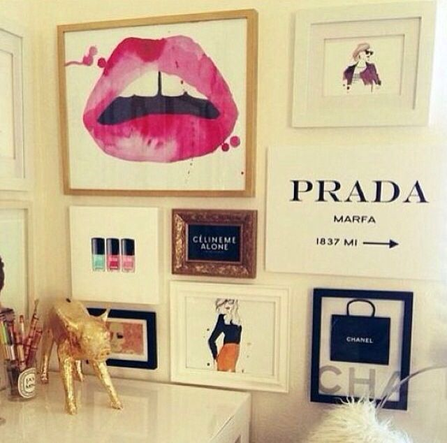 Gossip girl inspired wall art design inspiration pinterest girls offices and prada - Chic and stylish pink bedroom design ideas for all time girly look ...