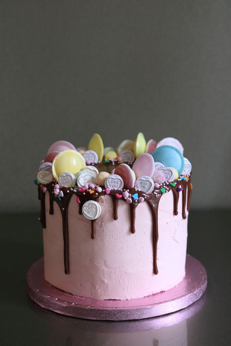 Love Heart Valentine S Day Drip Cake Cake Drippy Cakes