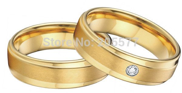 gold plating His and Hers Matching wedding band