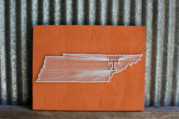 Vols Pride // Reclaimed Wood Nail and String Tribute to University of Tennessee