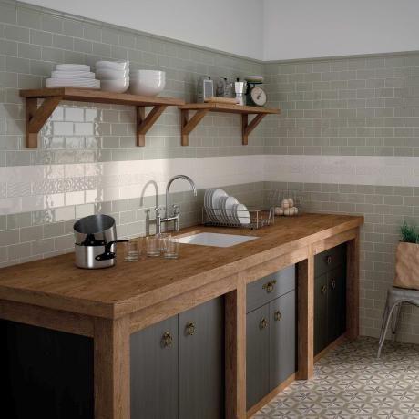Brick Olive Green Ceramic Kitchen Tiles   We Know That It Isnu0027t Always Easy