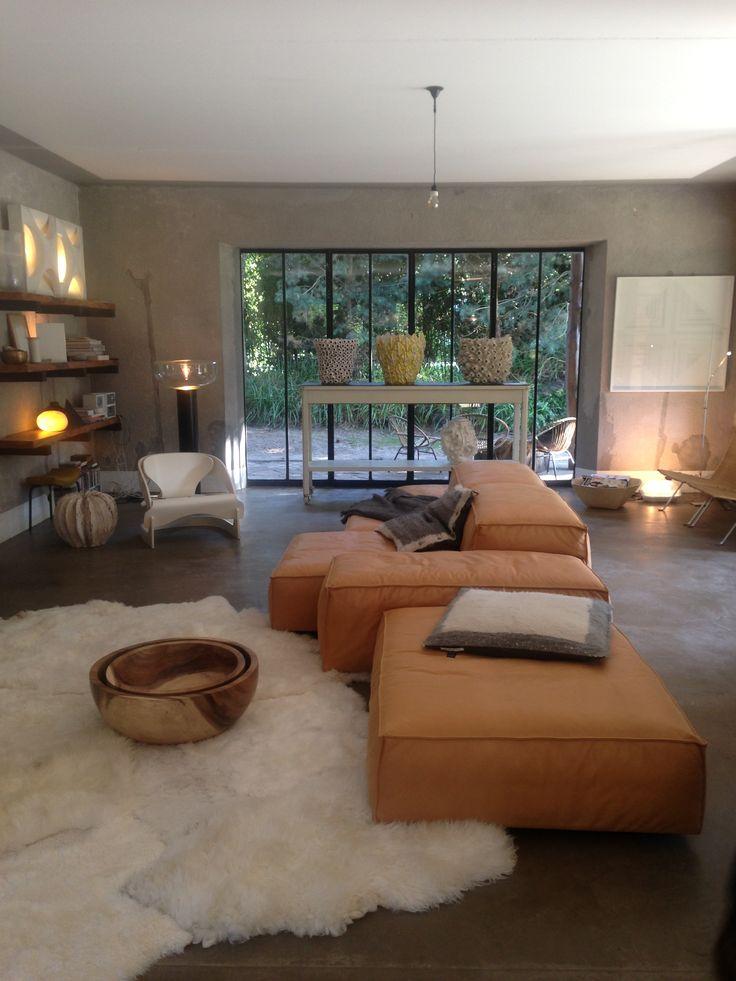 Extrasoft sofa feeling at home at ITEMS Bed, Knokke, Belgium.