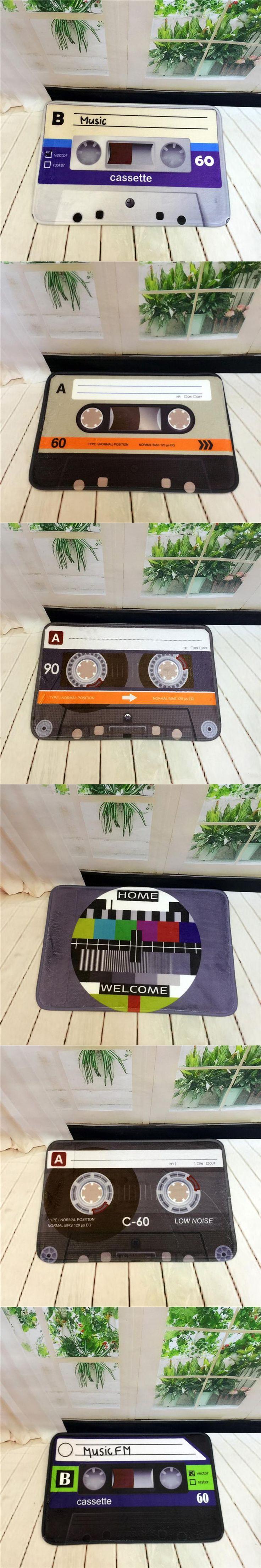 HOT Vintage Polyester Magnetic Tape Non-slip Floor Mat Carpet Indoor Entrance Door Floor Doormat Living Room Bedside Porch Rugs
