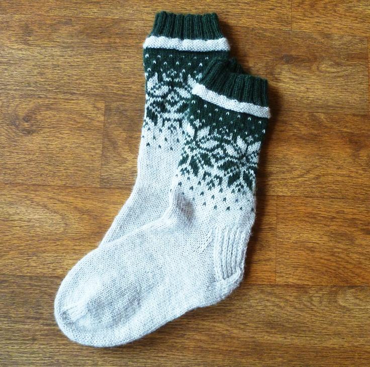 Norwegian Socks knitted in Regia 4 Ply. Pattern found in Regia Magazine 157. Knitted by Linda K