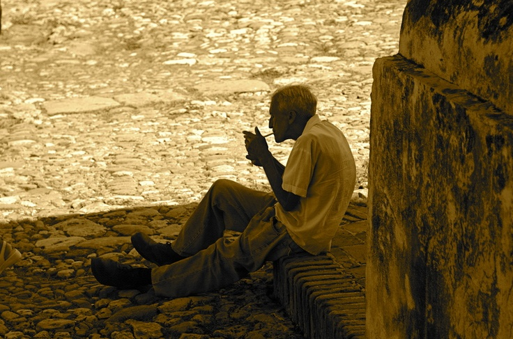 A Seat and a Smoke - Trinidad, Cuba