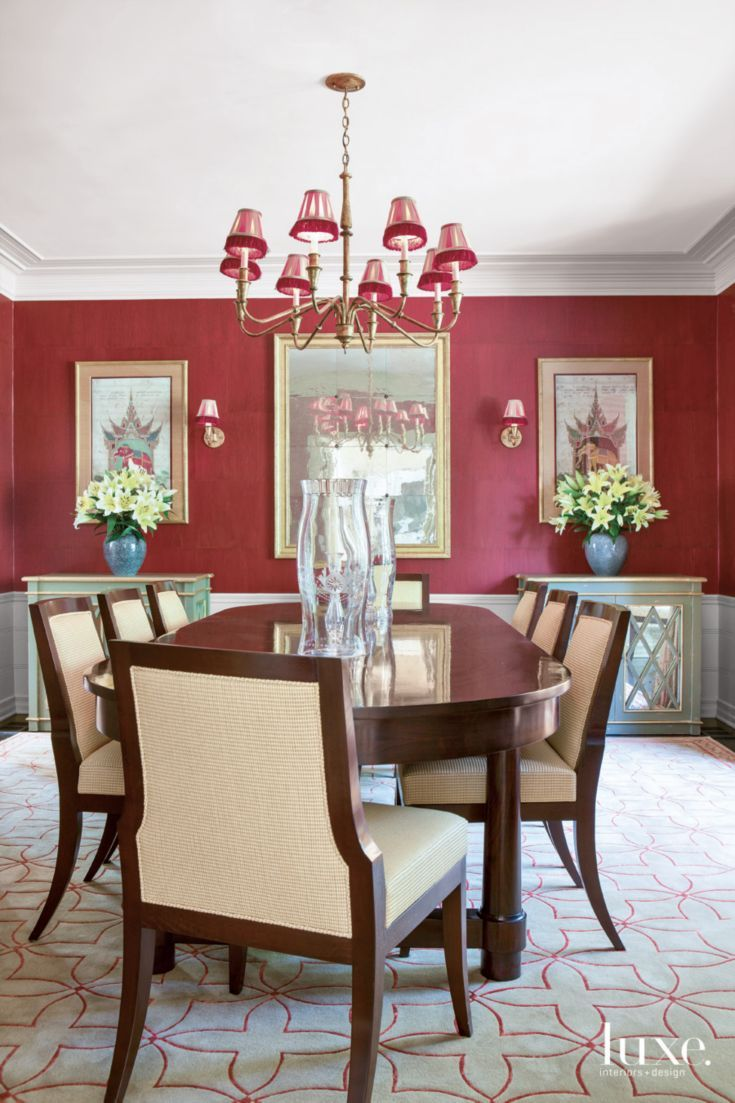 1000 Ideas About Red Dining Rooms On Pinterest Antique