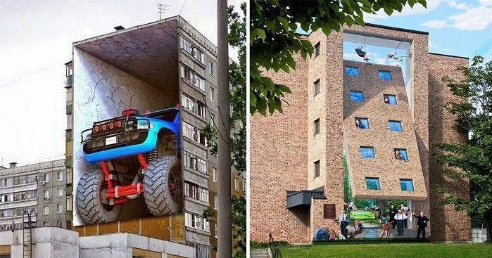 15 τρισδιάστατα γκράφιτι που μοιάζουν όντως σαν αληθινά!
