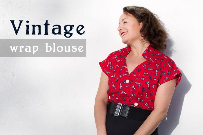 vintage wrap blouse