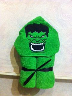 Incredible Hulk Hooded Towel by RiosEmbroideryShoppe on Etsy, $30.00