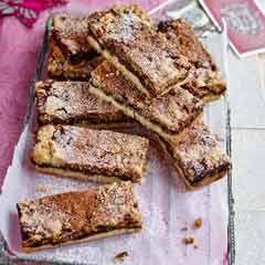 Mincemeat, pecan and cinnamon crumble bars - Sainsbury's Magazine