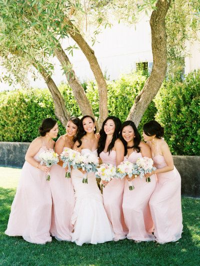 Blush pink bridesmaid's dresses | Photo by Leo Patrone Photography / leopatronephotography.com